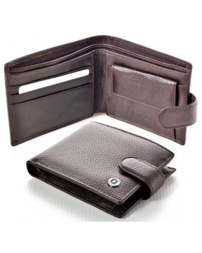 Мужской кожаный кошелек портмоне Boston Коричневый