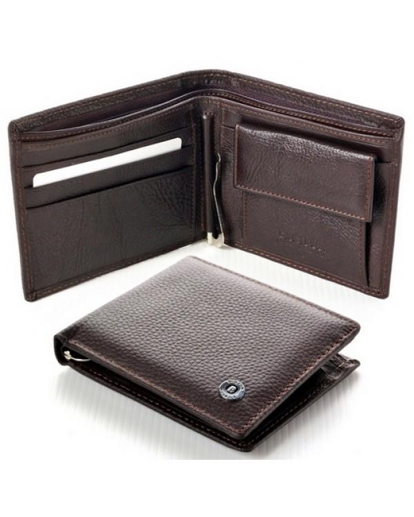 Мужской кожаный кошелек с зажимом Boston Коричневый