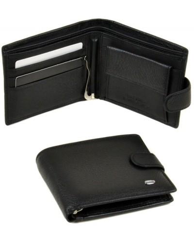 Мужской кожаный кошелек с зажимом Dr.Bond