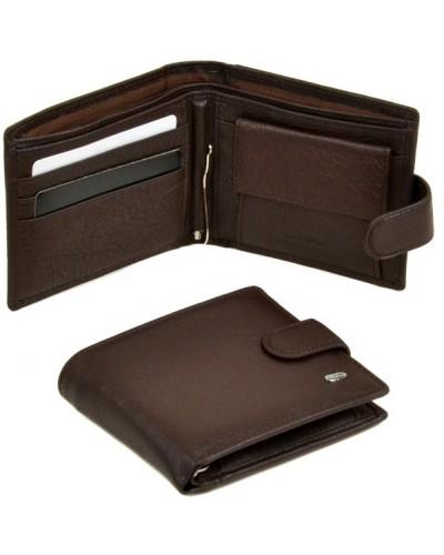 Мужской кожаный кошелек портмоне бумажник с зажимом Dr.Bond