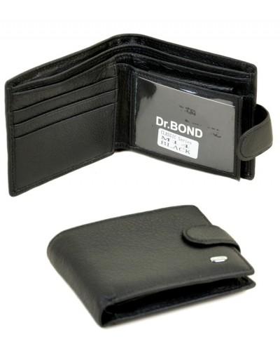 Мужской кожаный кошелек Dr. Bond маленький