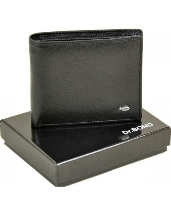 Мужской кожаный кошелек Dr.Bond с зажимом на магните