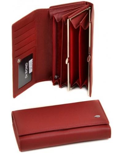 Женский кожаный кошелек Dr. Bond с визитницей