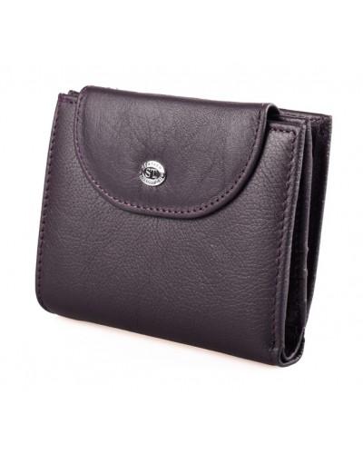 Женский кожаный кошелек ST цвет фиолетовый