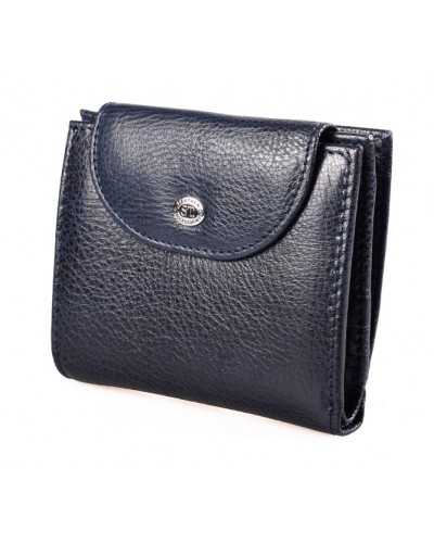 Женский кожаный кошелек ST цвет синий
