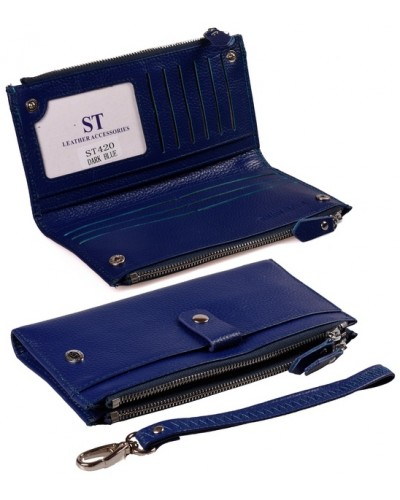 Женский кожаный кошелек визитница ST