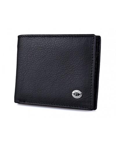 Мужской кожаный кошелек с зажимом на магните ST