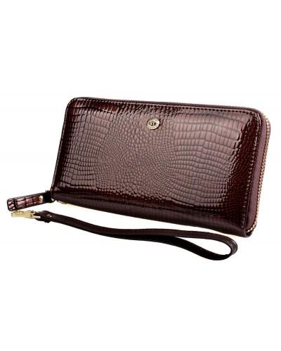 Женский кожаный кошелек ST на молнии