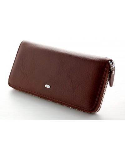 Женский кожаный кошелек клатч на молнии ST Коричневый