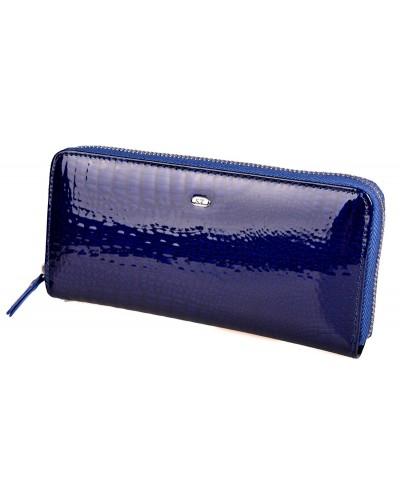 Женский кожаный кошелек клатч на молнии ST лаковый