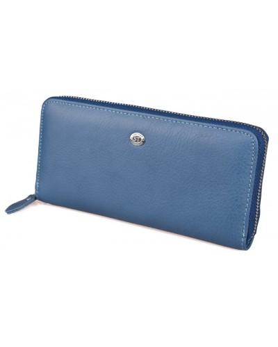 Женский кожаный кошелек клатч на молнии ST