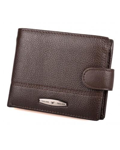 Мужской кожаный кошелек портмоне TAILIAN натуральная кожа